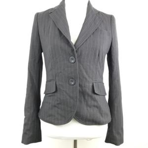 Rampage Two Button Closure Striped Career Blazer